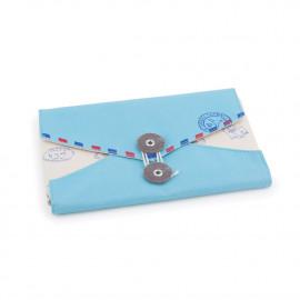 Organizador de Acessórios Envelope Azul Claro