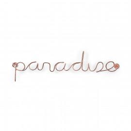 Letreiro de Parede Paradise Cobre
