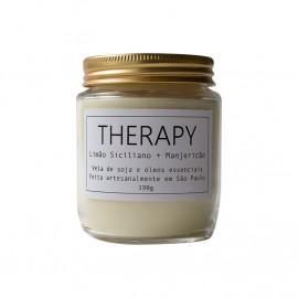 Vela Aromática Therapy - Limão Siciliano + Manjericão