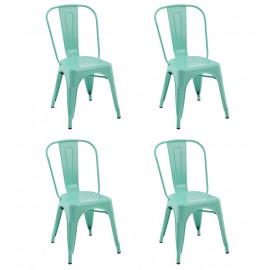 Cadeira Tolix Verde Água - 4 Unidades