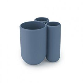 Porta Escova de Dente Touch Azul