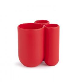 Porta Escova de Dente Touch Vermelho