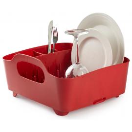 Escorredor de Pratos Tub Vermelho