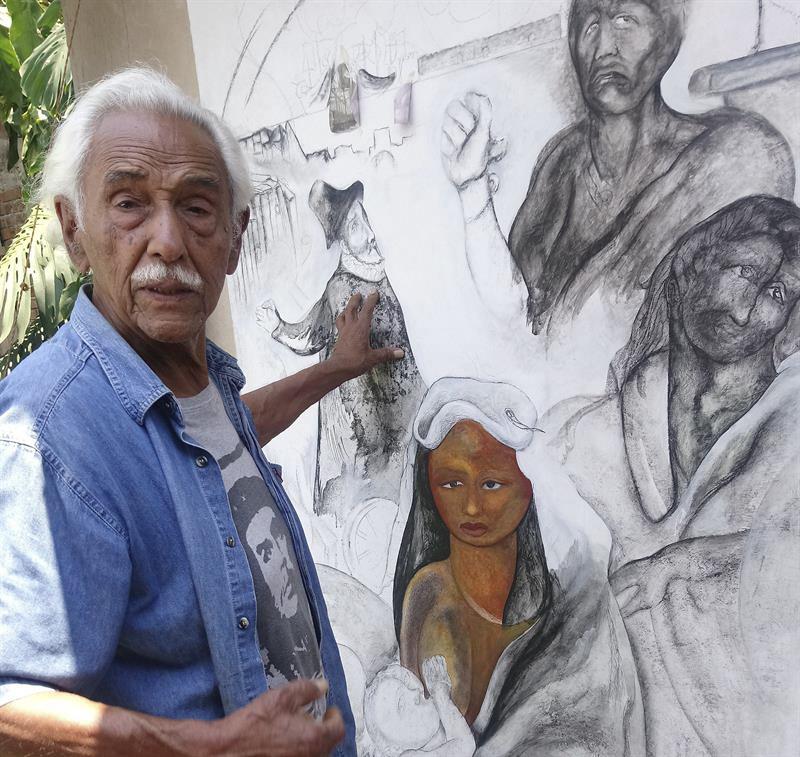 Mural De Jose Clemente Orozco Malinche Y Cortes