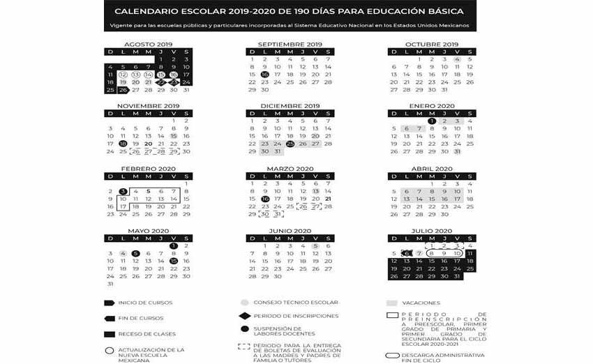 Calendario Escolar 2020 Sep Cdmx.Alista Sep Cuatro Megapuentes Diario El Mundo