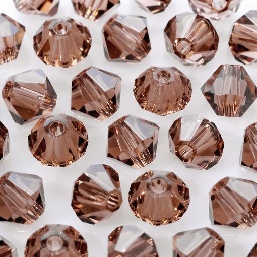 Balão de Cristal Lapidado Swarovski® art. 5301 Colorado Topaz 4mm