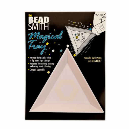 Bandeja mágica Triangular para pedrarias Beadsmith Branca