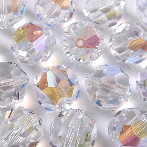 Bola de Cristal Lapidado Swarovski® art. 8502 Cristal Blue Aurora Boreal (001 AB) 6mm