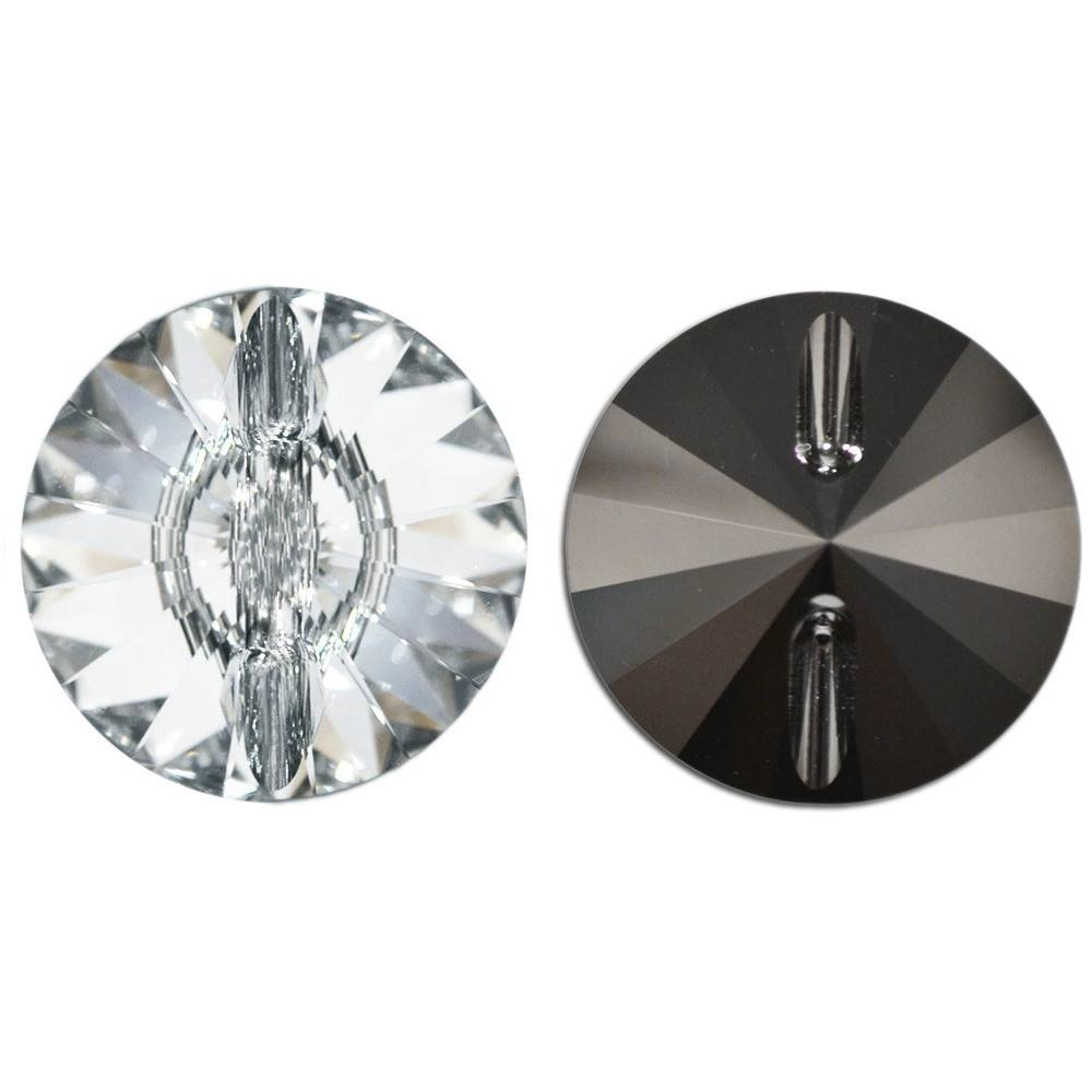 Botão Rivolli Swarovski Cristal 27mm 8pcs