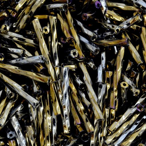 Canutilho de Vidro Preciosa®Ornela/Jablonex Bronze Metálico Torcido (59115) 20mm