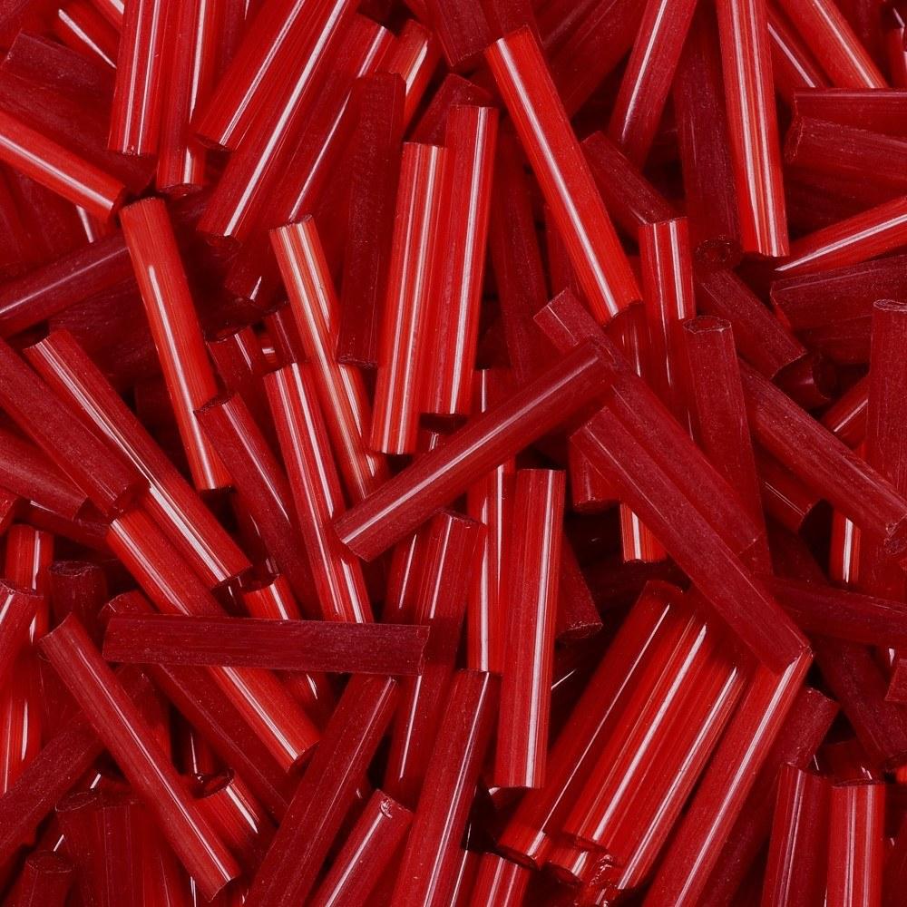 Canutilho Preciosa® Ornela Vermelho Transparente Seda (95081) 15mm 50 gr