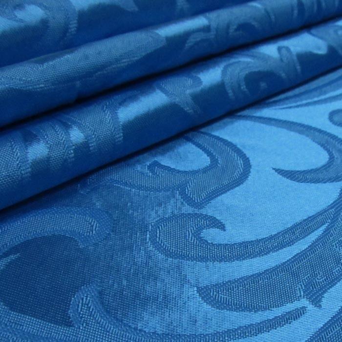 Tecido Cetim Brocado Azul