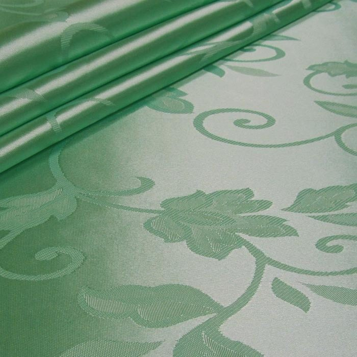 Tecido Cetim Brocado Verde Claro
