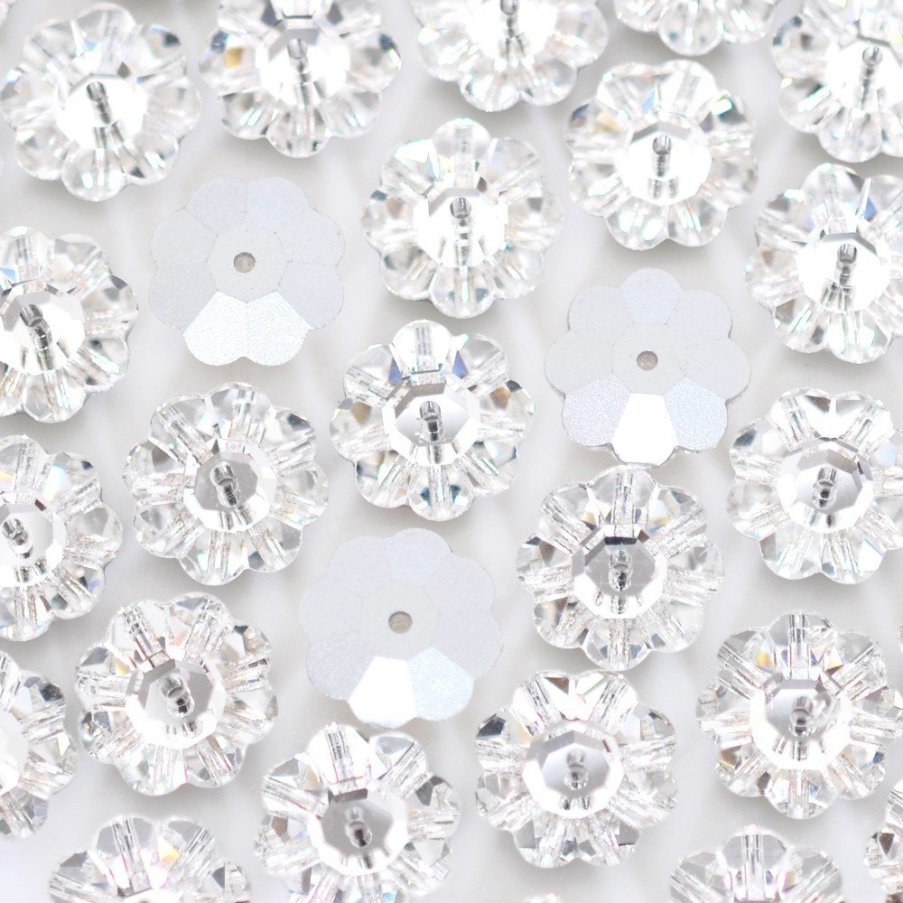 Flor Costura Preciosa Cristal 12mm 144pcs