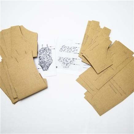 Kit 11 moldes moda praia infantil - Zenaide