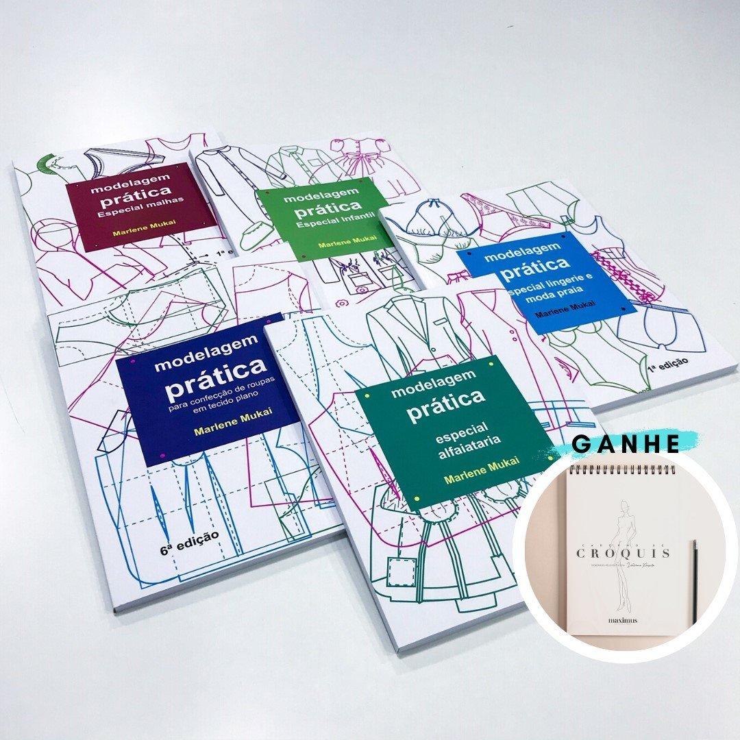 Kit 5 livros modelagem prática - Marlene Mukai