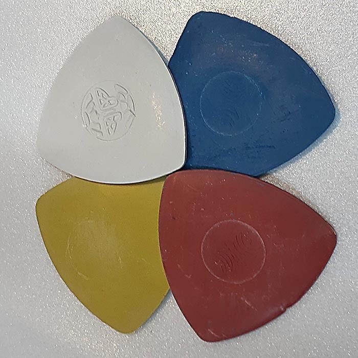 Kit Giz Triangular Para Marcação - 4 unidades