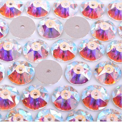 Lantejoula de Cristal para costura Swarovski® art. 3188 Cristal Aurora Boreal (001 AB) 6mm