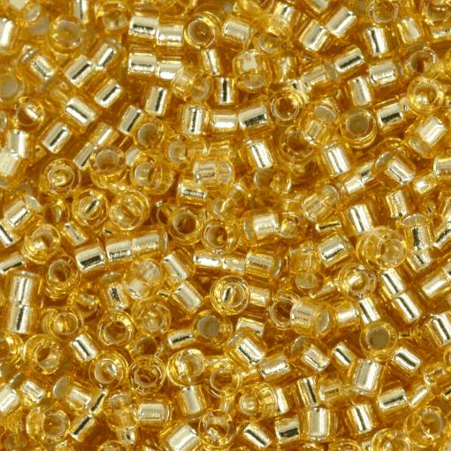 Miçanga de Vidro Delica Miyuki Ouro Novo Transparente (DB42) 11/0 = 1,6mm