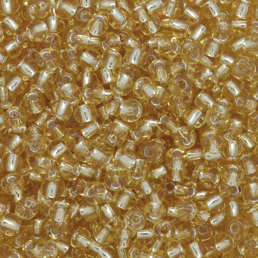 Miçanga Transparente Preciosa Ouro Novo 12/0=1,9mm 250g