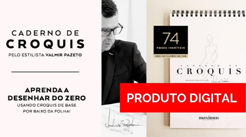 Minicurso Crocriando + Versão digital do Caderno de Croquis com 74 poses criativas