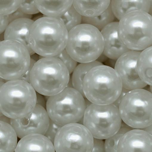 Pérola de Plástico ABS LDI Cristais® Branco 6mm 500 gr