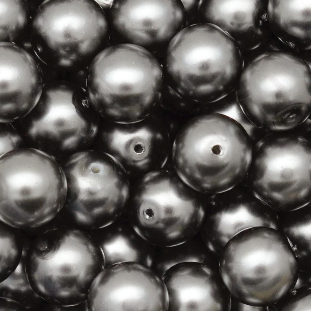 Pérola de Vidro Preciosa Grafite 8mm 600pcs