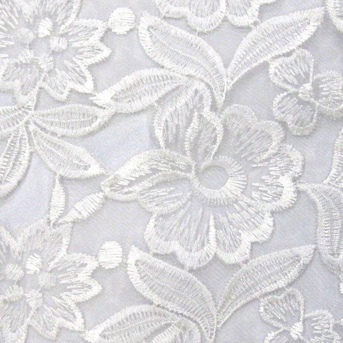 Tecido Renda de Tule Branco