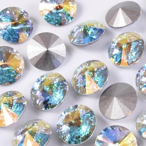 Strass Rivolli Swarovski® art. 1122 base cônica Cristal Aurora BorealSS29=D=6,20mm