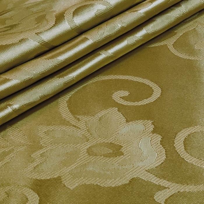 Tecido Cetim Brocado Dourado