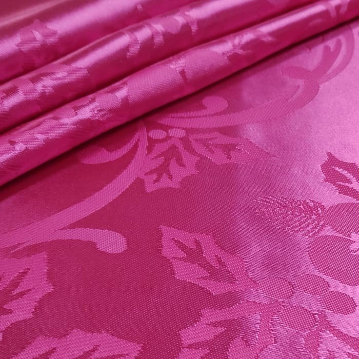 Tecido Cetim Brocado Pink