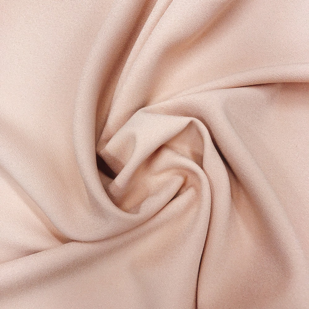 Tecido Crepe Valentino Nude - Pantone 3596-C