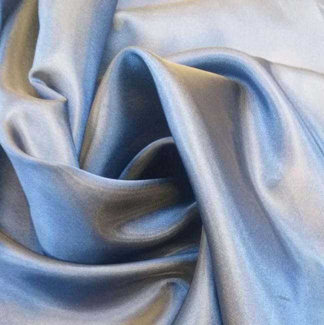 Tecido Gazar Azul com Preto