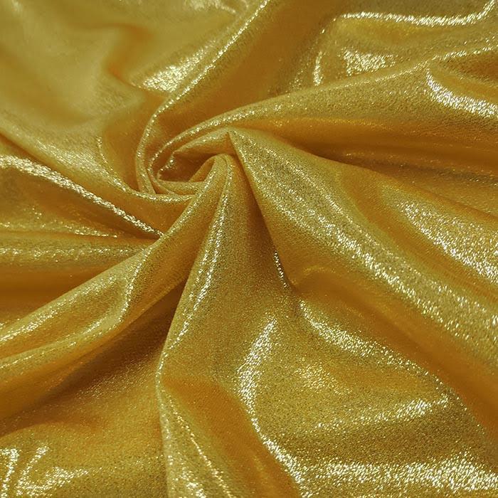 Tecido Lurex Lumiére Dourado