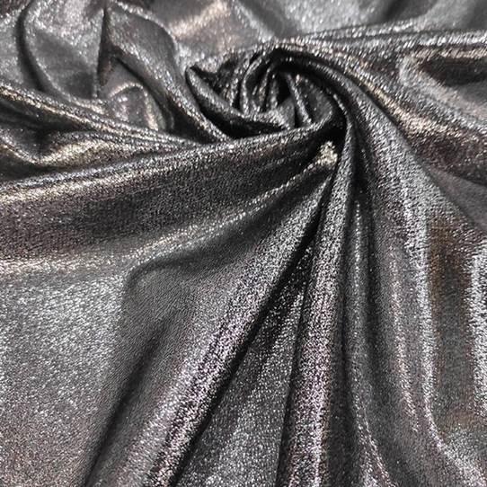 Tecido Lurex Lumiére Prata com Fundo Preto