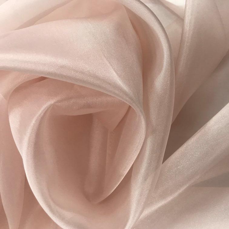 Tecido Organza Cristal Nude