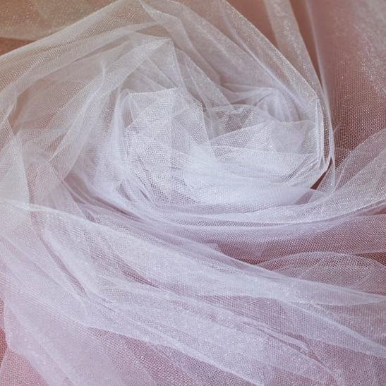 Tecido Tule Francês com Brilho Branco - 3,00m de largura