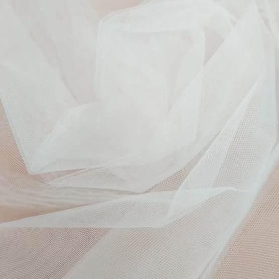 Tecido Tule Francês Fosco Off White