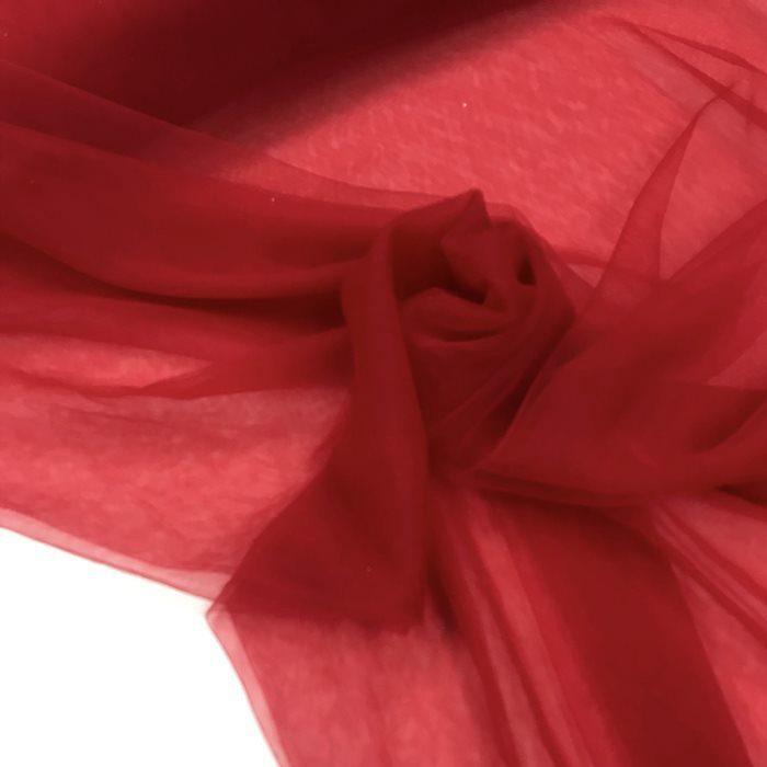 Tecido Tule Invisível Vermelho