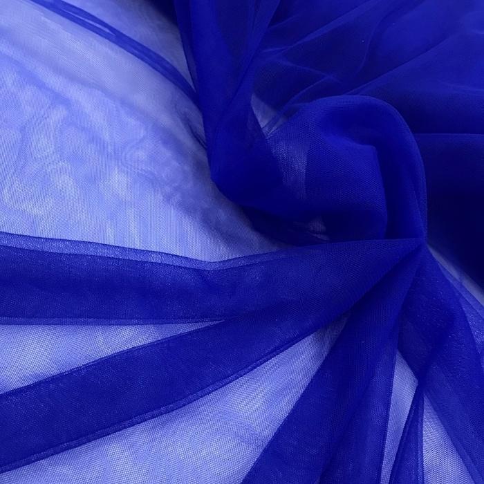Tecido Tule Tipo Ilusion Azul Bic