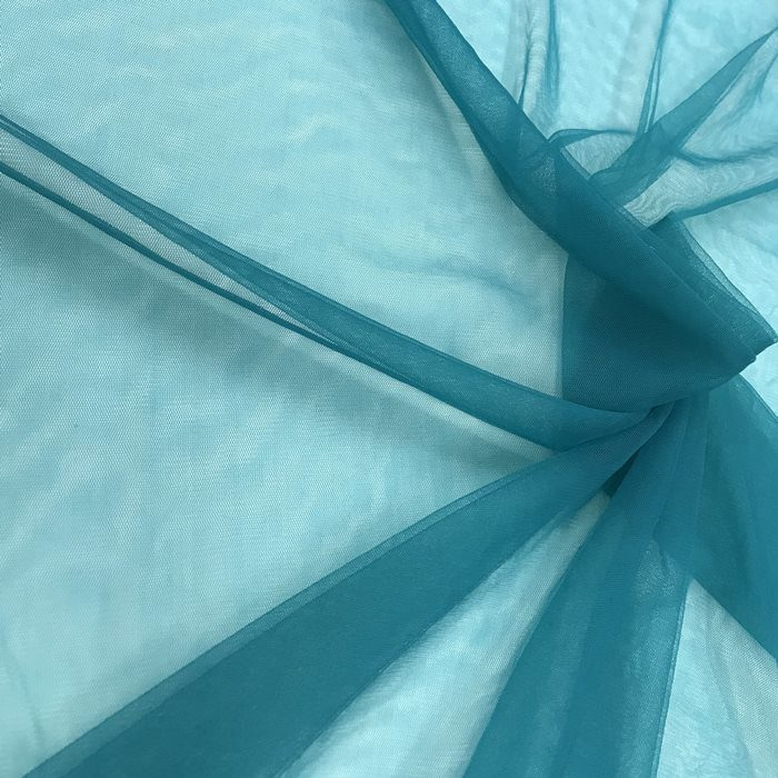 Tecido Tule Tipo Ilusion Azul Petróleo