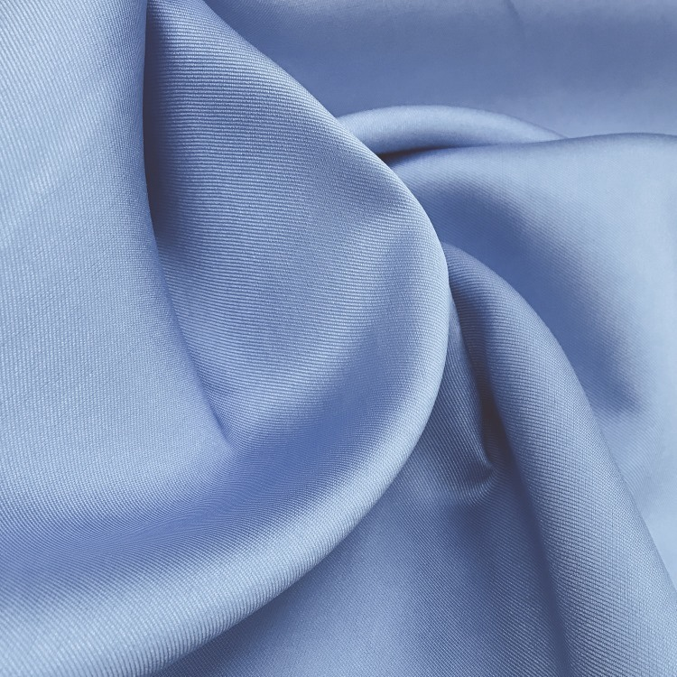 Tecido Zibeline de Poliéster Azul Serenity - Pantone 7453 C