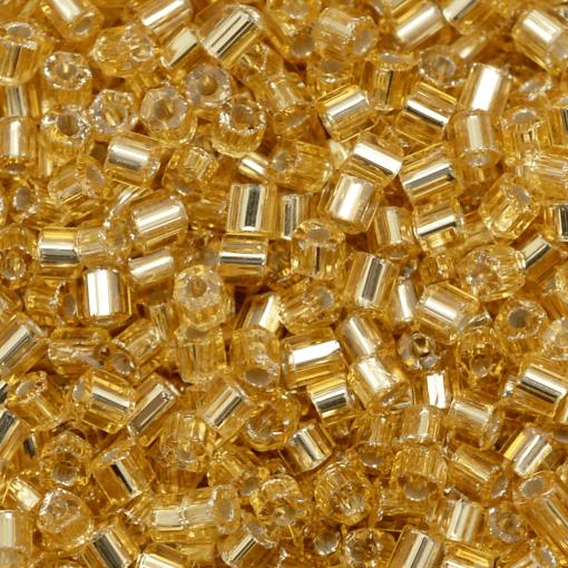 Kit 5 kg Vidrilho de Vidro  Ouro Novo Transparente Espelhado Prata (17020) 2x9/0=2,6mm