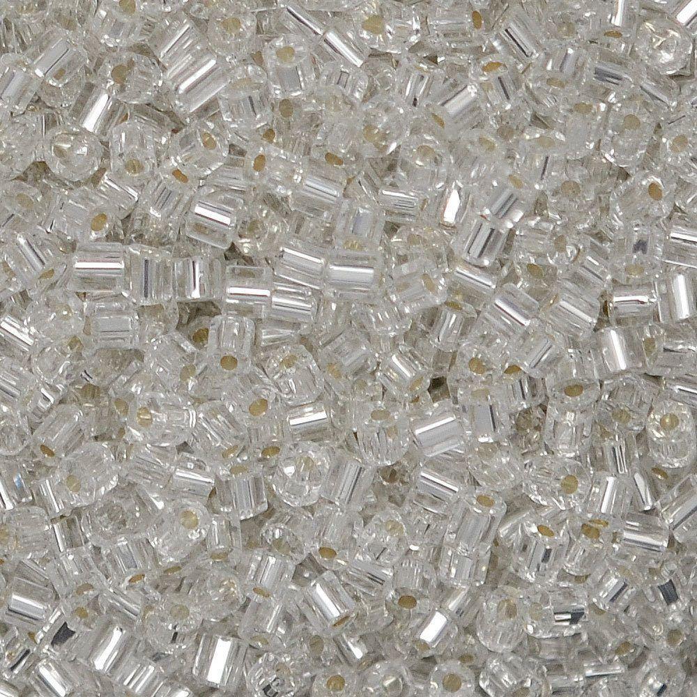 Vidrilho Preciosa® Ornela Prata Transparente (78102) 2x9/0=2,6mm