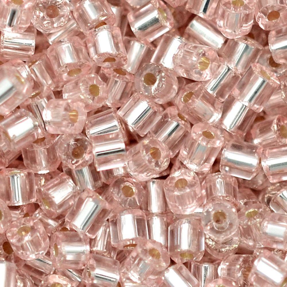 Vidrilho Transp. Preciosa Rosa 2x9/0=2,6mm 500g