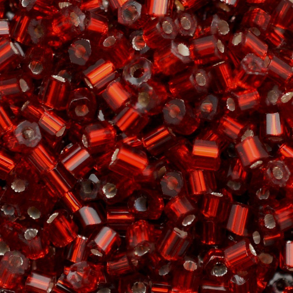 Vidrilho Transp. Preciosa Vermelho 2x9/0=2,6mm 500g