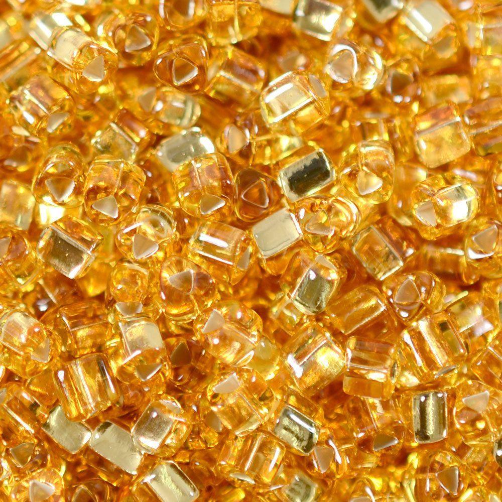 Vidrilho Triangular Transp. Preciosa Ouro Novo 2,5mm 500g
