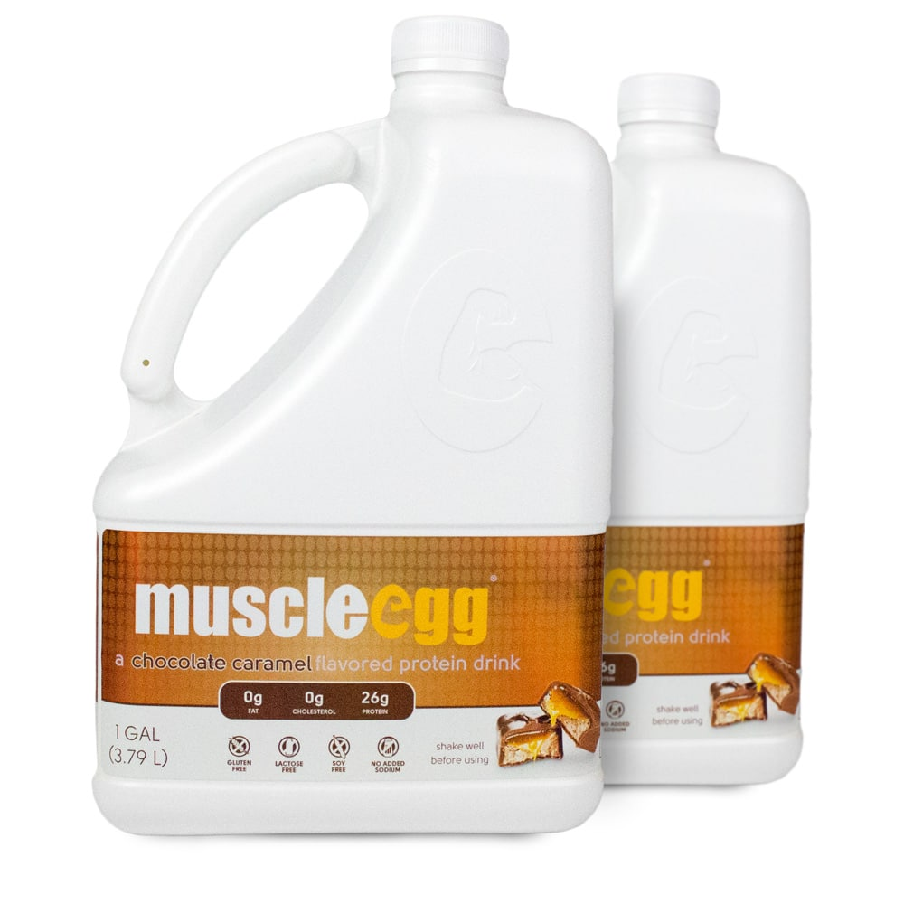 There are calories in a 1 cup serving of Muscle Egg Chocolate Egg Whites. Calorie breakdown: 0% fat, 13% carbs, 87% protein.