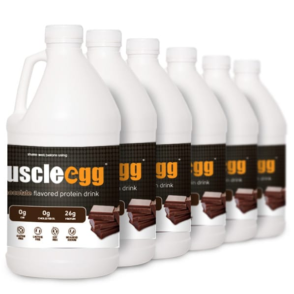 6 Half Gallons Chocolate MuscleEgg