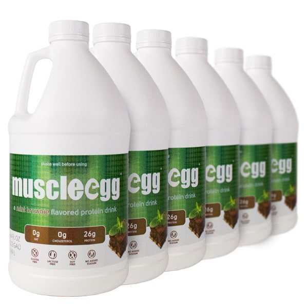 6 Half Gallons Mint Brownie MuscleEgg